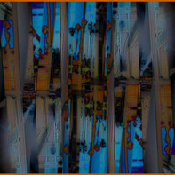 ABSTRACT REFECTIONS OF A  VIEW 21 X 14