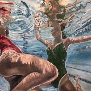 UnderWater,36x48,oil on canvas-2019,$550