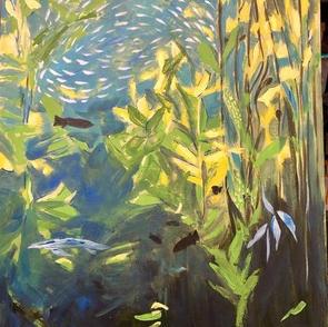 Karin Padden  Kelp I   28x22  acrylic on