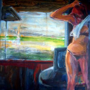 Marilyn Church The Window  25 x24 acryli