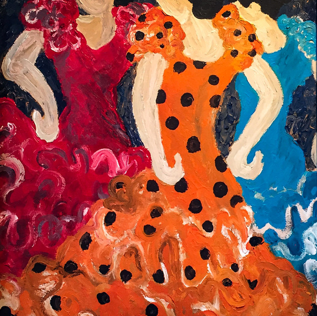 Alcon_Tres Mujeres_24x30_Acrylic on Canv