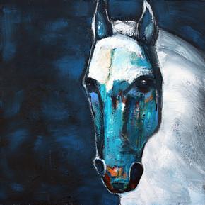 James Koskinas_Midnight Stallion_2021_acrylic on canvas_40 X 40.jpg