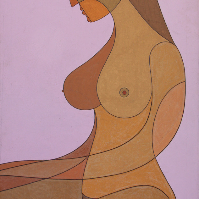 Nude in Lavender 36x24 acrylic $2750 not