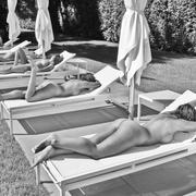 Dell Cullum Lounging Sextuplets BW - 20x30 photograph