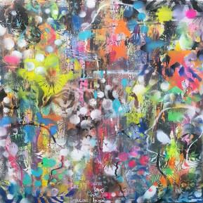 Sona Mirzaei Mind blown - 30x30- Sunrise -
