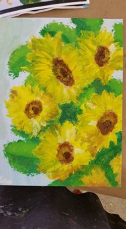 Sunflowers: 8 years old