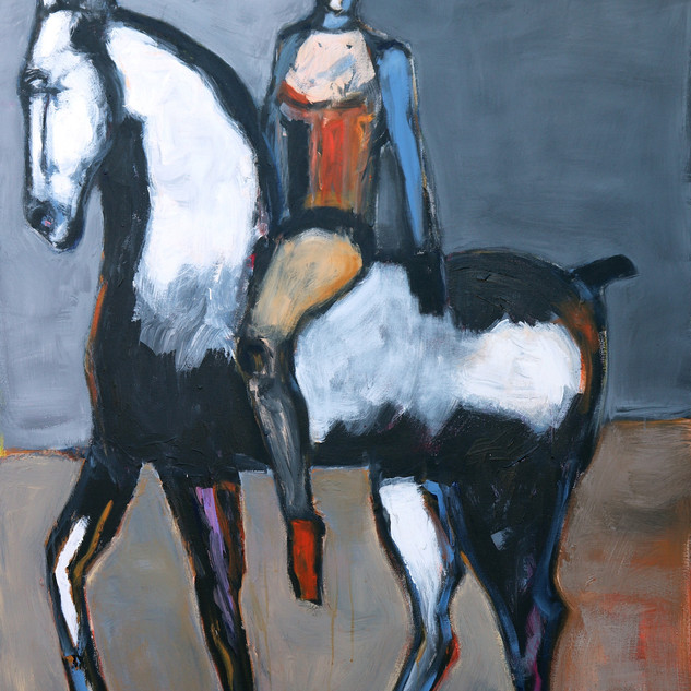 _Circus Rider on White Horse IV, 60 X 48