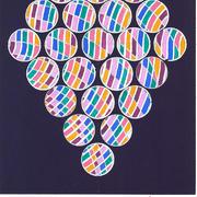 David Rufo Amagansett Dot Series Purple Watercolor