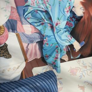 Sue Carlo At Home   oil on canvas, 36x60