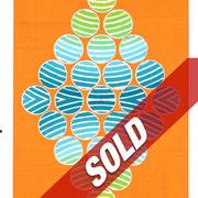 David Rufo Diamond Dot Orange  wc 10x7 $