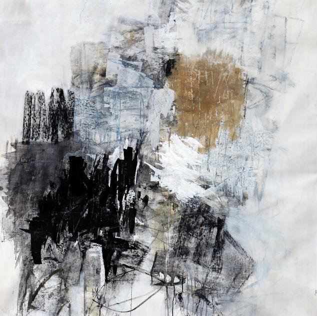 Julie Schumer Winter's End, 54 X 43, mix