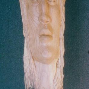 Abby Abrams, Blockhead, oak, 18 inches t