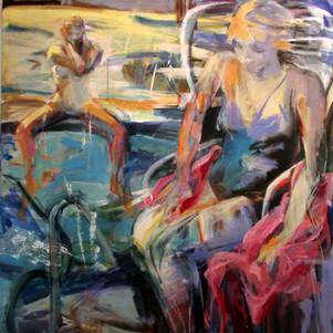 Marilyn Church The Pool  50 X 48  acryli