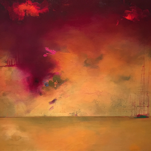 Stephanie Reit, Phantom Ship, 24x30, oil