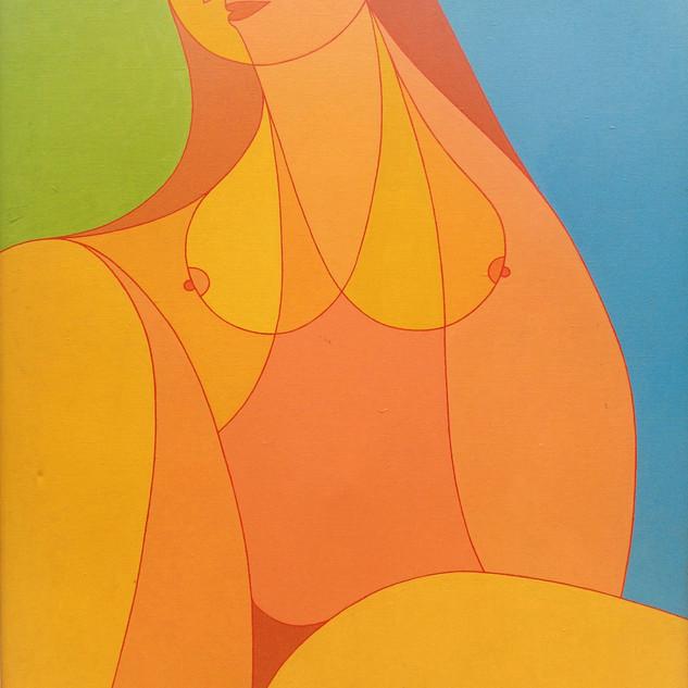 Golden Lady 40.5x30.5 acrylic $3000 fram
