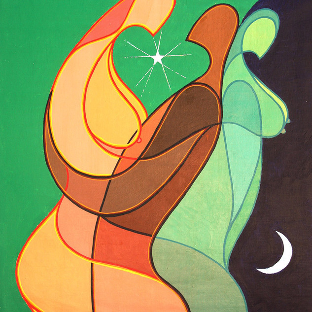 Kenneth B Walsh Midnight Rendezvous Por Trois 36.5x31.jp