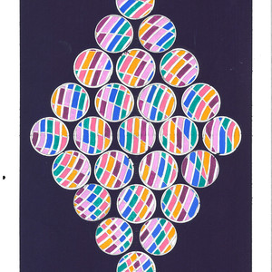 David Rufo Amagansett Dot Series Purple