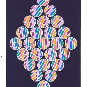 David Rufo Amagansett Dot Series Purple