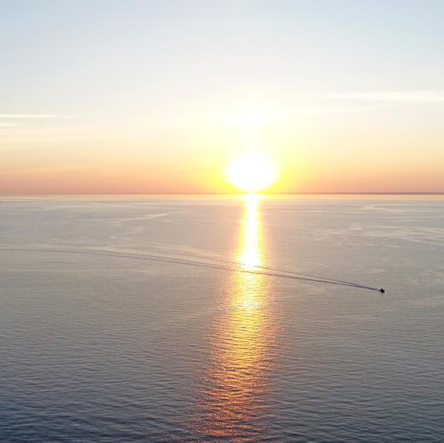 Paul Dempsey - LI Sound Sunset - 20x40 -