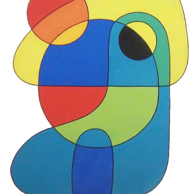 Abstract II 45x34.5 acrylic $3500 framed