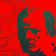 "Jackson Pollock 30""x30"" SOLD"