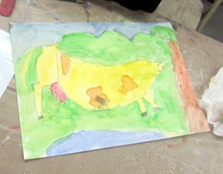 Franz Marc Yellow Cow:7 years old