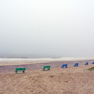 Paul Dempsey - Distanced Beach Benches -