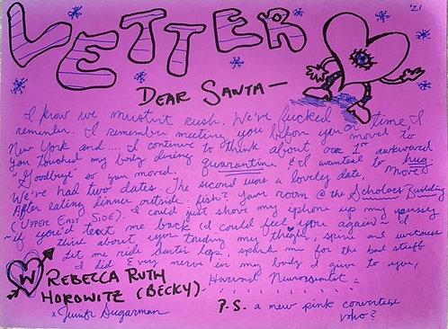 Jennifer Sugarman: Dear Santa, Love Becky