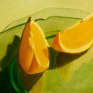 S Reit Slices, Oil on Canvas, 8x10, $499