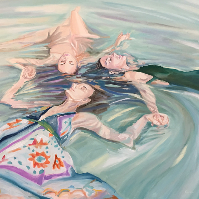 Angie Sinclair,Water Goddesses ,oil on c