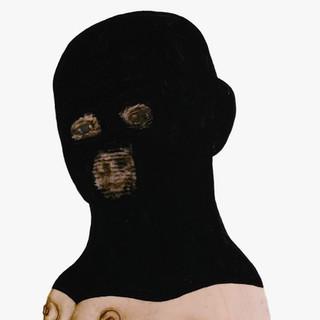 Joyce Kubat, Black Hood, ink and gouache