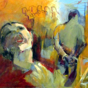 Marilyn Church Mother Crying 20 X 24 acr