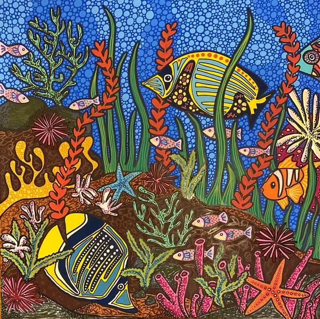 Lianne Alcon One Fish Two Fish 24x24 202