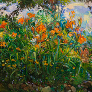 1.Tree rising from horizontal  lilies  4
