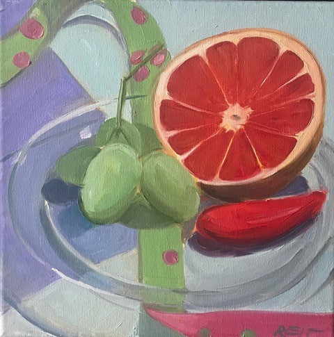 Stephanie Reit Grapefruit 10x10 O on C.j