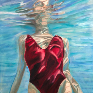 Angie Sinclair Wet_oil painting-48x36-2018- Angie Sincl