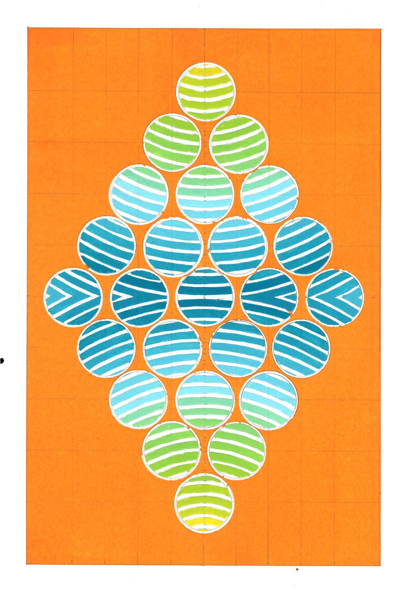 kmcontemporary David Rufo Diamond Dot Orange  wc 10x7 $50o