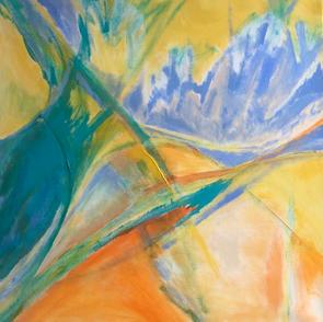 Beth Barry_Creamsicle_acrylic on canvas_