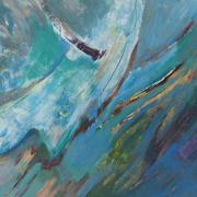 Beth Barry Swoosh Acrylic on Panel 12x16