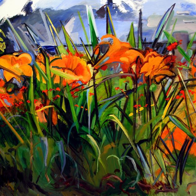Lieberman Spikey Lilies 46x64