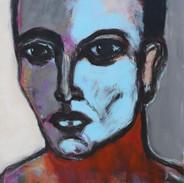Girl with Blue Face, 48 X 36, acrylic ca