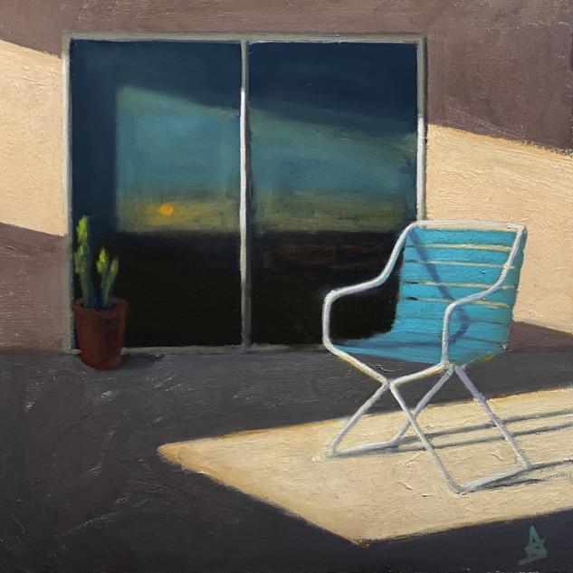 Alex Selkowitz Desert Sunset 24X24 OIL O