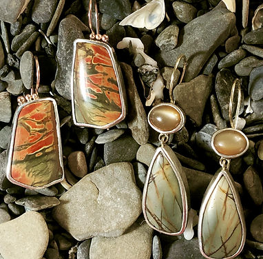 agate earrings on rocks.jpg