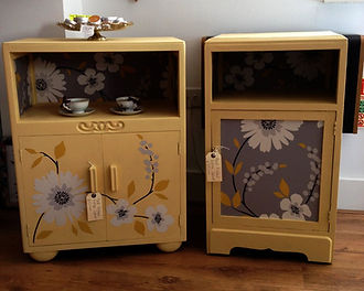 Painted furniture bedside cupboards