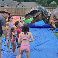 Not everyone gets to feed a T.rex at the