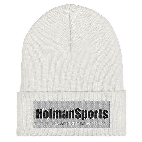 Holman Sports - White Cuffed Beanie