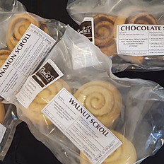 Chocolate Scrolls (3 pcs) (BAKE @ HOME™)