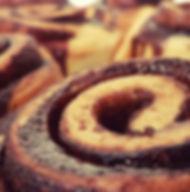 Chocolate scroll
