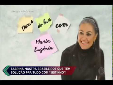 Maria Eugenia no Programa da Sabrina