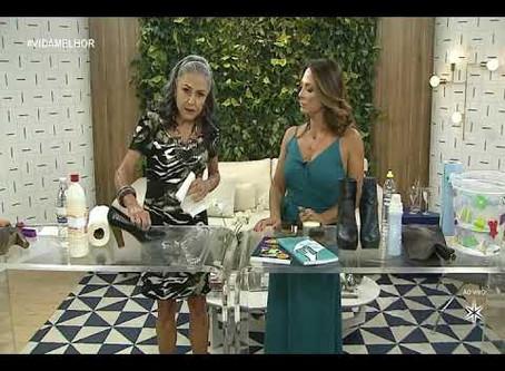 Maria Eugenia ensina a cuidar de sapatos, couros e ouros num piscar de olhos